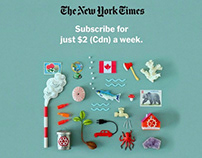 New York Times Web Campaign Miniature Collages