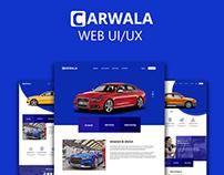 CARWALA web UI/UX design