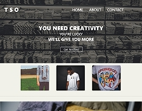 T-Shirt Store Landing Page, UI Design with Adobe XD