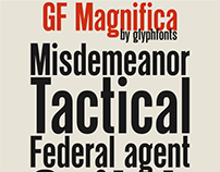 GF Magnifica typeface (латиница, кириллица)