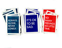 Emotional support postcards