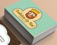 Logo e cartão de visita | Delícias do Rei