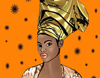 Dessin femme africaine