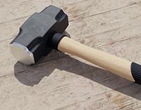 3D Sledge Hammer Model