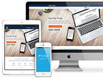 Fax app + Website responsive