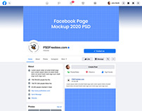Facebook Page Mockup 2020 PSD
