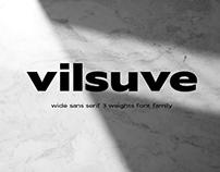 Vilsuve - wide sans serif font