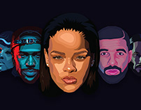 Illustrations of Popular Faces Collection