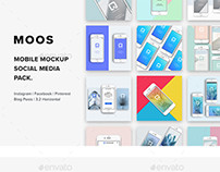 Moos - Mobile Mock-Up Social Media Pack