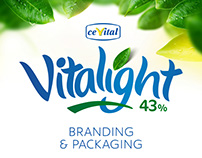 Cevital VITALIGHT branding and packaging