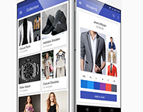 Material E-commerce Fashion App UI