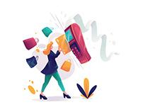 Shopping Credit Card Illustration