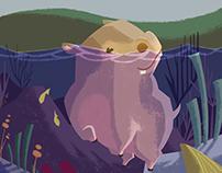 ~Animals Pupils introduce ~ hippo~動物小學生介紹~ 河馬