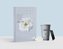 Book Cover with Cup Free Mockup