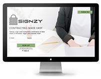 Singzy || Landing page design