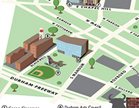 Downtown Durham Isometric Map