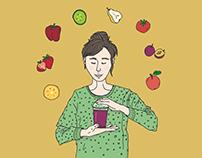 Tematické ilustrace pro Fruitisimo