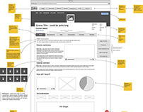 Wireframe for Course Finder Re-development