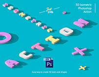 3D Isometric Photoshop Action