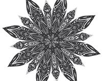 Grunge Decorative Spiky Mandala