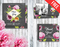 Free PSD Wedding Invitation Stationery