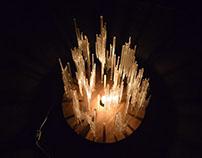 Staglamite lamp