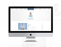 CVitae - Responsive Materialized Resume Intro 7