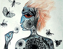 """Frail-Vigor"", Watercolor drawings on paper"
