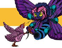 gallina vs polilla - chicken vs moth