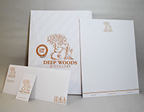 Deep Woods Distillery Stationery Package