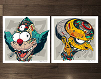 MECHASOUL KRUSTY + BURNS FINE ART PRINTS