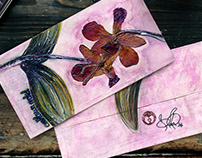 Orchid Mail Art