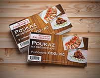 Voucher for restaurant