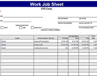 Excel Template for Job Sheet Time Tracking