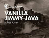 Pigeon River Vanilla Jimmy Java Coffee Porter Identity