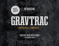 Gravtrac Free Font
