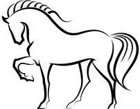 Elegant horse vector image.