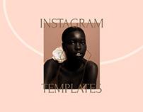 Instagram post templates for beauty studio
