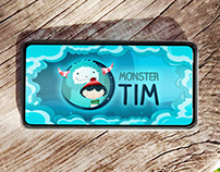 UI & Game Art. Monster Tim, casual puzzle game.