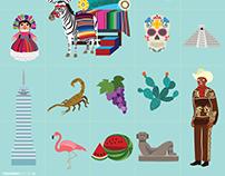 Diseño e Ilustración MAPA de MÉXICO para EL GALLO GIRO