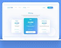Daily UI 030 - Pricing page