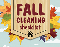 Fall Cleaning Checklist infographic