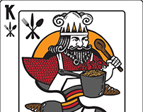 Chef King Playing Card