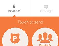 Women Security app - Nirbhaya Social Design