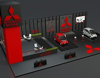 Exhibition Stand made in 3D MAX and VRAY for MITSUBISHI