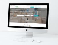 """""""ECOPARCEL"""" internetinio puslapio dizainas"""