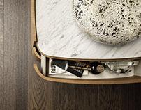 Carrara Marble Cabinets