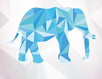 The blue elephant book cover- غلاف كتاب الفيل الأزرق