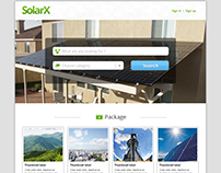 SolarX - website design