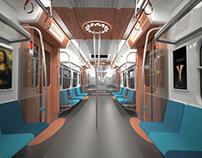 Suburban train interior